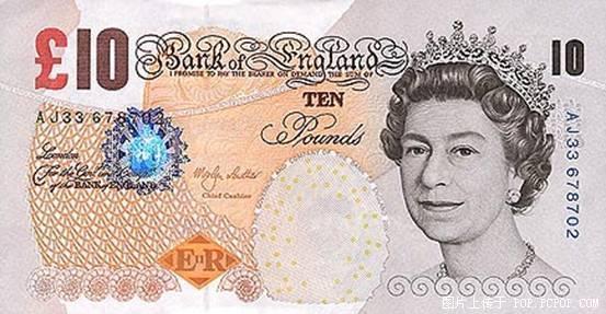 世界各国货币图片:英镑