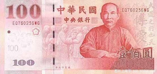 世界各国货币图片:中国台湾-台币