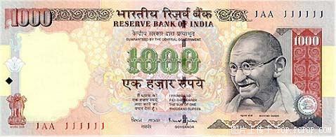 世界各国货币图片:印度卢比