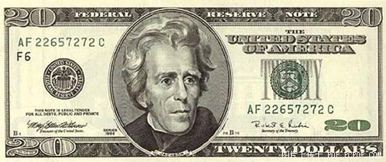 世界各国货币图片:美元
