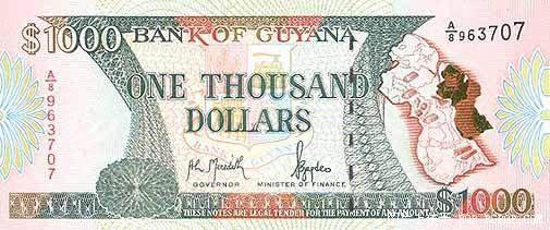 世界各国货币图片:圭亚那元