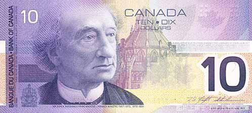 世界各国货币图片:加拿大元