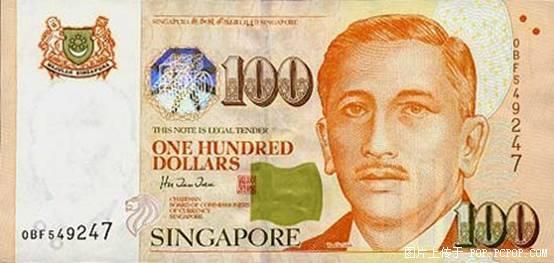 世界各国货币图片:新加坡元