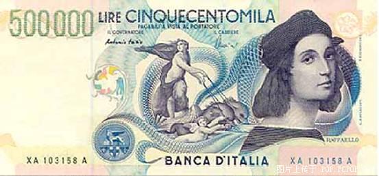 世界各国货币图片:圣马力诺意大利里拉