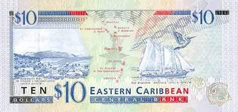 世界各国货币图片:安提瓜和巴布达东加勒比元