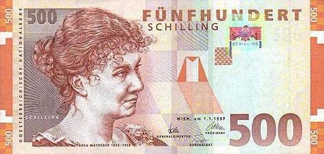 世界各国货币图片:奥地利先令