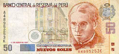 世界各国货币图片:秘鲁索尔