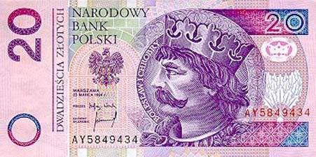 世界各国货币图片:波兰兹罗