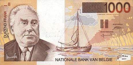 世界各国货币图片:比利时法郎