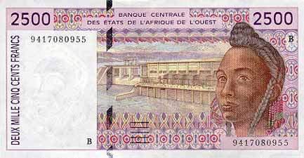 世界各国货币图片:贝宁非洲金融共同体法郎