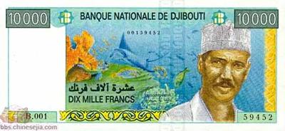 世界各国货币图片:吉布提/法郎