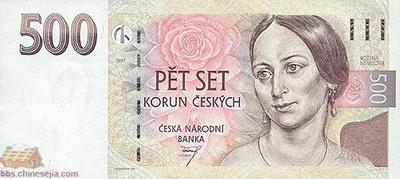 世界各国货币图片:捷克/克郎